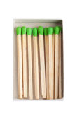Wood matches - green power concept Stock Photography