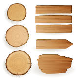 Wood Material Elements Stock Images