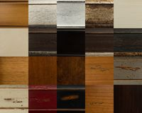 Wood material samples Stock Photography