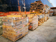 Wood Material Warehouse Royalty Free Stock Photo