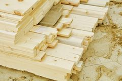 Wood Materials and Building Supplies Royalty Free Stock Image
