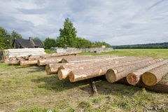 Wood materials for house building Stock Photo