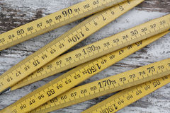 Wood measuring meter Royalty Free Stock Images