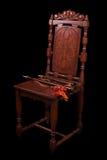 wood medeltida winds för stol Royaltyfri Fotografi
