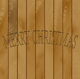 Wood merry christmas Royalty Free Stock Photography
