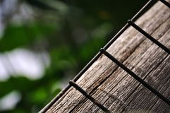 Wood and Metal. A contrast between texture of Wood and Metal, nature and man made Royalty Free Stock Photo