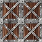 Wood and metal box Stock Photography