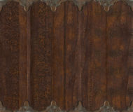 Wood and metal carved scroll work background Stock Photo