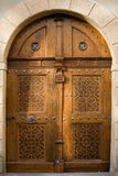Wood and metal door Royalty Free Stock Images