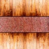 Wood on metal floor Royalty Free Stock Images