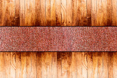 Wood on metal floor Stock Photography