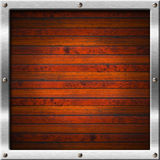 Wood and Metal Frame Royalty Free Stock Image