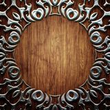 Wood and metal Stock Images