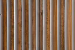 Wood and Metal Slats Stock Photo