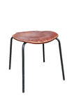 Wood and metal stool Stock Photography