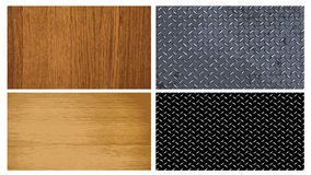 Wood and metal texture. Collection of wood and metal textures - illustration Stock Images