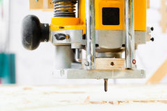 Wood milling machine Stock Photography