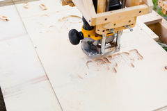 Wood milling machine Stock Image