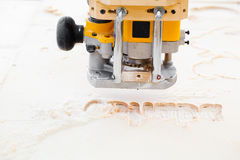 Wood milling machine Royalty Free Stock Images