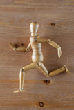 Wood model with running pose Stock Images