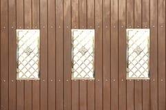 Wood modern stil för staket Royaltyfria Bilder