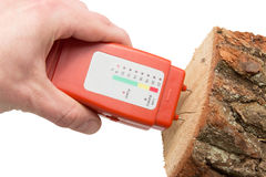 Wood moisture meter Stock Photos