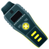 Wood moisture Meter. Electronic moisture meter wood for industrial use stock illustration