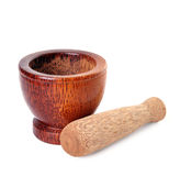 Wood mortar Stock Photography