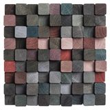 Wood mosaic background. Isolated wooden art mosaic background Stock Photography