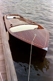 Wood Motorboat. Photo of handcrafted wood motorboat. This type of boat requires a lot of care royalty free stock photography
