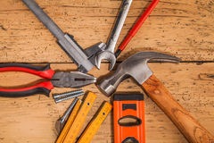 Wood mounting tools Stock Images