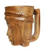 Wood mug Royalty Free Stock Image