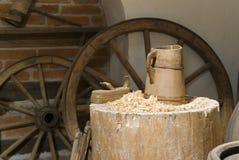 Wood mug Royalty Free Stock Images
