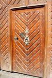 Wood nailed door Stock Photos
