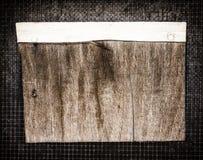 Wood notice board Stock Image
