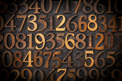 Wood number background Royalty Free Stock Photography