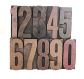 Wood numbers Royalty Free Stock Images