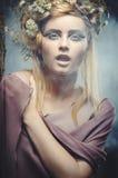 Wood nymph. Portrait of beautiful wood nymph Royalty Free Stock Photo