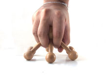 Wood object for corporal massage Royalty Free Stock Image