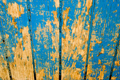 Wood with old blue paint Royalty Free Stock Photo