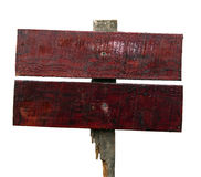 Wood old planks sign. Royalty Free Stock Images