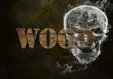 wood ord arkivbild