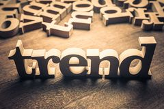 Wood ord för trend arkivfoto