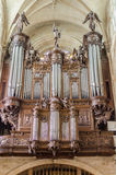 Wood organ in a church in Paris, France Stock Photography