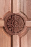 Wood ornamentation. At a door Stock Photography