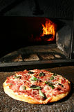 wood oven pizza Royalty Free Stock Photography