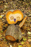 Wood owl Stock Image