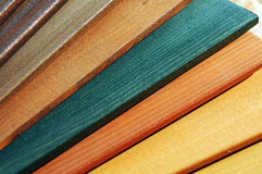 Wood paint samples Stock Photography