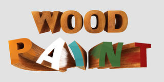 Wood paint with wooden letters Royalty Free Stock Image