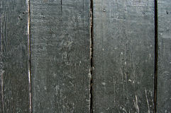 Wood painted in black color. Old wood Royalty Free Stock Photography